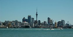 Auckland CBD skyline from Devonport