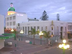 A typical view of Napier at dusk.