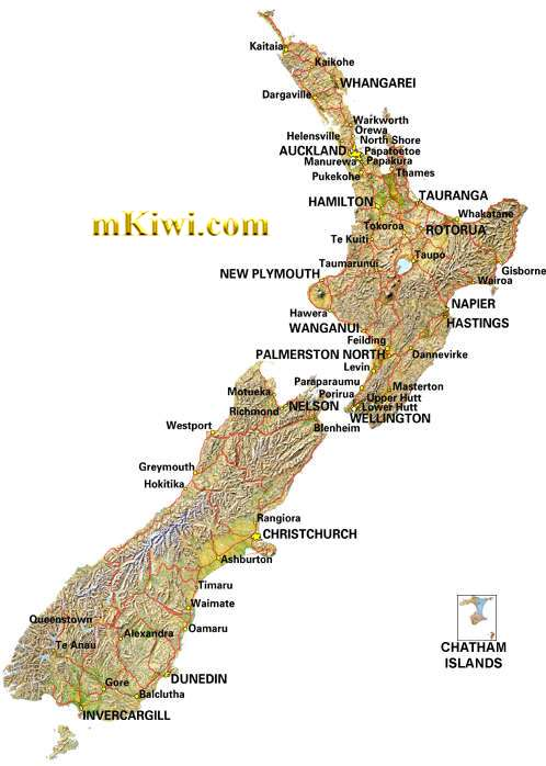 New Zealand Map Large detailed maps of New Zealand NZ