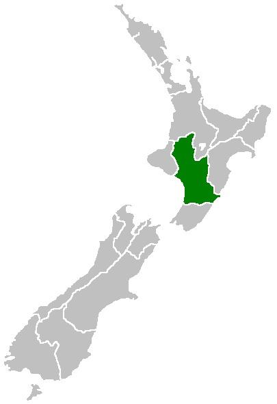 Manawatu Wanganui Region Map - New Zealand