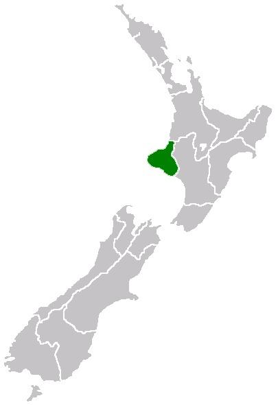 Taranaki Region Map - New Zealand