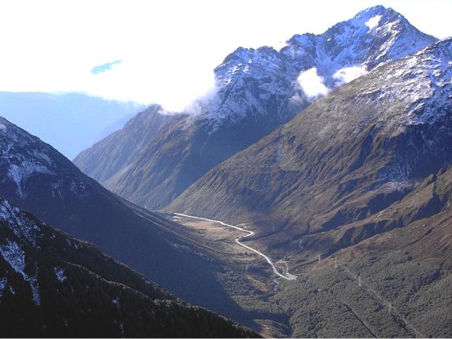 Arthur's Pass New Zealand from Avalanche Peak