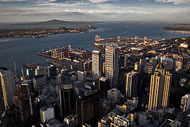 View of the Auckland Central Business District