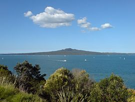 Rangitoto island as seen from North Head