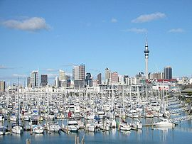 City Of Sails - View over the Westhaven Marina.