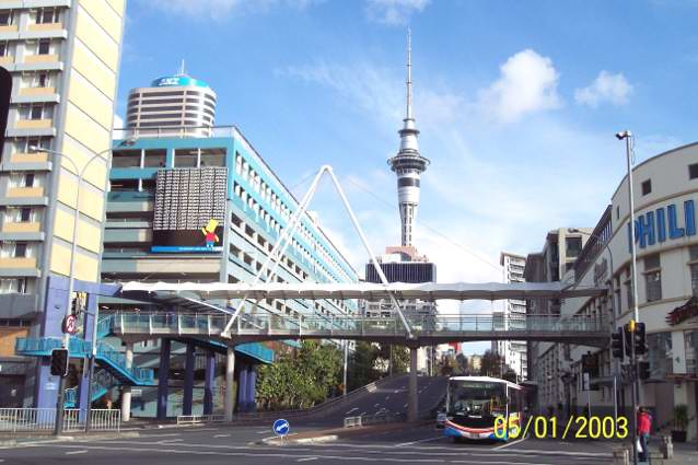 Auckland Skytower from Princess Warf