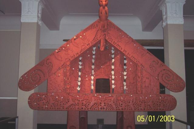 Maori Whare - Maori Carved Meeting House