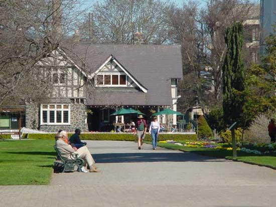 Christchurch Curators restaurant in Botanical Gardens