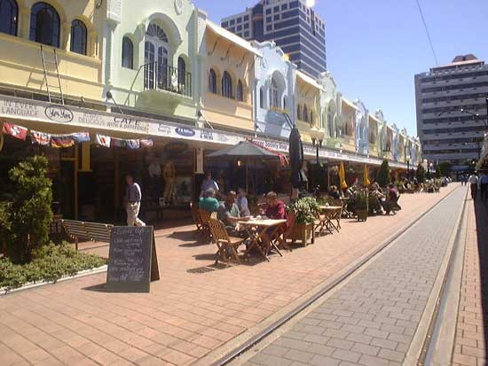 Christchurch Gourmet delights on trendy New Regent Street