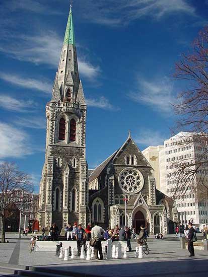 Christ Church Cathedral Photograph - Christchurch New Zealand