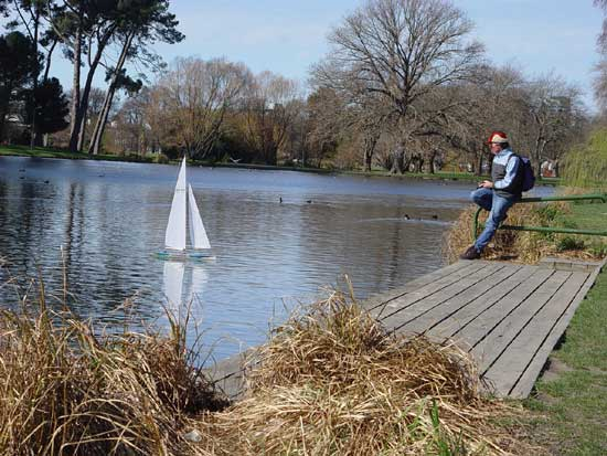Christchurch Model boating in Hagley Park