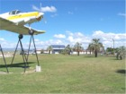 Gisborne Airport with Display Aircraft in Foreground