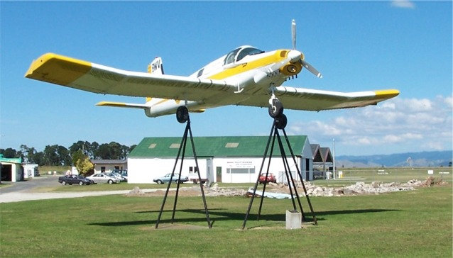 Display Aircraft at Gisborne Airport Aviation Museum