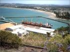 Port of Gisborne New Zealand from Kaiti Hill