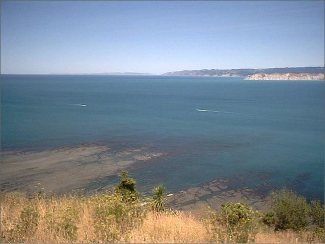 View of Poverty Bay from Kaiti Hill Gisborne with Young Nick's Head in Background
