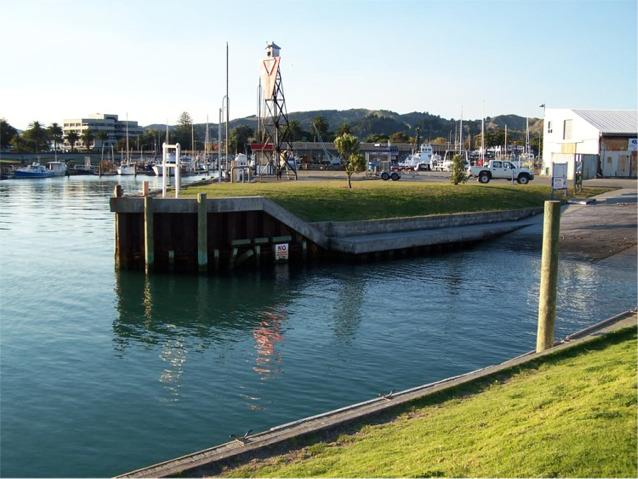 Main boat ramp for small commercial and pleasure craft in Gisborne