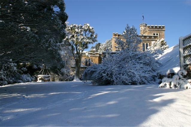 Larnach Castle New Zealand in winter