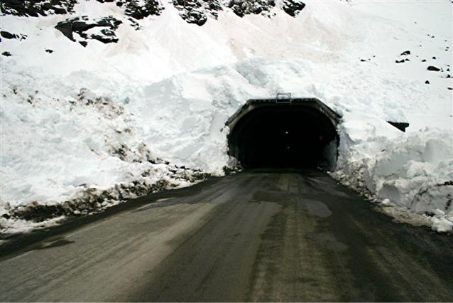 A road tunnel in Milford Sound New Zealand