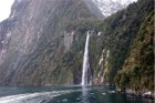 Waterfall at Milford Sound