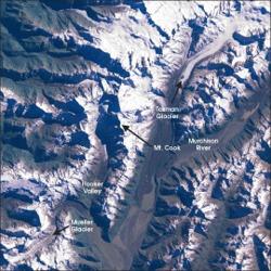 Mount Cook area from LandSat