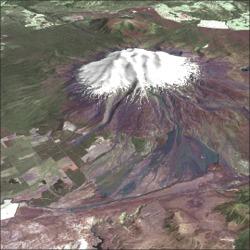Satellite Image of Mount Ruapehu