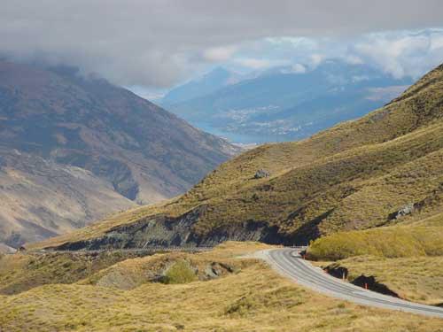 Crown Range between Wanaka and Queenstown, New Zealand