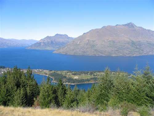 Cecil Peak from Queenstown Hill, Queenstown, New Zealand