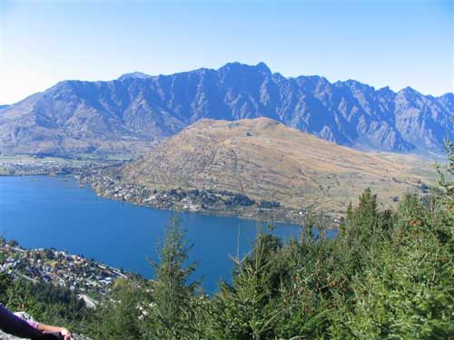 Frankton Arm and Remarkables from Queenstown Hill
