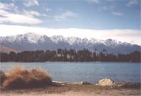 The Remarkables and Lake Wakatipu from Queenstown