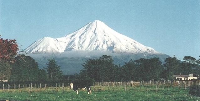 Mount Egmont / Taranaki from Stratford New Zealand