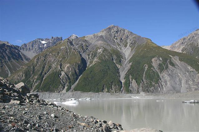 Rocky Barren Landscape at the Tasman Glacier, New Zealand