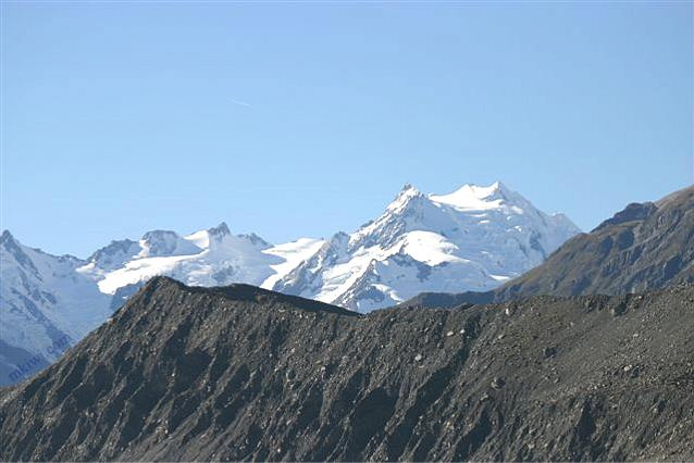 A photograph from Tasman Glacier in New Zealand