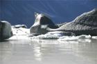 Picturesque Icy Outcrop at Tasman Glacier
