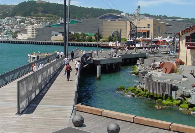 Foot Bridge by Te Papa Museum, Wellington New Zealand